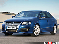 2008 Volkswagen Passat R36 Sedan (B6) = 250 kph, 300 bhp, 5.8 sec.
