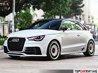 2011 Audi A1 Clubsport Quattro Concept = 250 kph, 503 bhp, 3.7 sec.