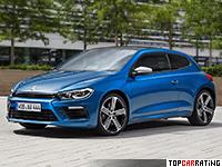 2014 Volkswagen Scirocco R = 250 kph, 280 bhp, 5.5 sec.