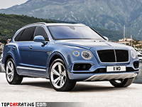 2017 Bentley Bentayga Diesel = 270 kph, 435 bhp, 4.8 sec.