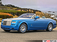 2013 Rolls-Royce Phantom Drophead Coupe Series II = 240 kph, 460 bhp, 5.8 sec.
