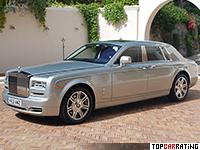 2013 Rolls-Royce Phantom Series II = 240 kph, 460 bhp, 5.9 sec.