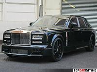 2014 Rolls-Royce Phantom EWB Series II Mansory Conquistador = 280 kph, 551 bhp, 5.2 sec.