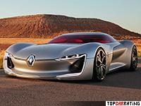 2016 Renault Trezor Concept = 250 kph, 350 bhp, 4 sec.
