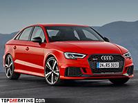2017 Audi RS3 Sedan = 280 kph, 400 bhp, 4.1 sec.