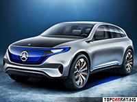 2016 Mercedes-Benz Generation EQ Concept = 200 kph, 408 bhp, 4.8 sec.