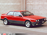 1983 Maserati BiTurbo S = 221 kph, 205 bhp, 6.5 sec.