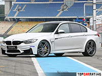 2015 BMW M3 G-Power = 310 kph, 560 bhp, 3.9 sec.