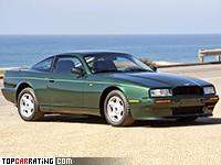 1989 Aston Martin Virage = 254 kph, 335 bhp, 6.8 sec.