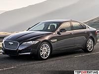 2016 Jaguar XF 30d Portfolio = 250 kph, 300 bhp, 5.8 sec.