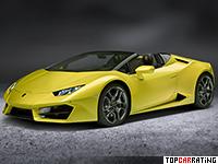 2017 Lamborghini Huracan RWD Spyder = 319 kph, 580 bhp, 3.6 sec.