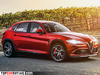2018 Alfa Romeo Stelvio Quadrifoglio = 283 kph, 510 bhp, 3.8 sec.