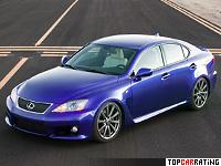 2007 Lexus IS F = 270 kph, 423 bhp, 4.8 sec.