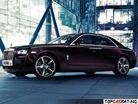 2014 Rolls-Royce Ghost V-Specification = 250 kph, 600 bhp, 4.8 sec.
