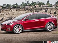 2017 Tesla Model X P100D = 250 kph, 773 bhp, 3.1 sec.