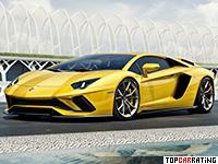 2017 Lamborghini Aventador S = 350 kph, 740 bhp, 2.9 sec.
