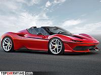 2017 Ferrari J50 = 335 kph, 690 bhp, 2.8 sec.