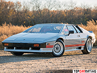 1981 Lotus Esprit Turbo = 235 kph, 210 bhp, 6.9 sec.