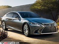 2018 Lexus LS 500 = 250 kph, 415 bhp, 4.5 sec.