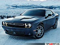 2017 Dodge Challenger GT AWD = 251 kph, 309 bhp, 6.4 sec.