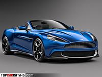 2018 Aston Martin Vanquish S Volante = 308 kph, 603 bhp, 3.8 sec.