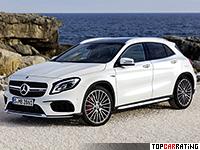2017 Mercedes-AMG GLA 45 4Matic (X156) = 270 kph, 381 bhp, 4.4 sec.