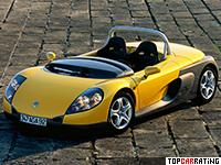 1995 Renault Sport Spider = 210 kph, 150 bhp, 6.5 sec.