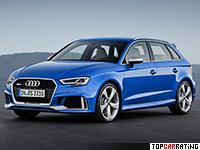 2018 Audi RS3 Sportback (8V) = 280 kph, 400 bhp, 4.1 sec.