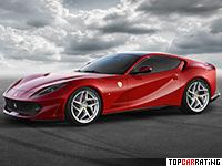 2017 Ferrari 812 Superfast = 340 kph, 800 bhp, 2.9 sec.
