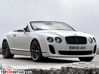 2010 Bentley Continental Supersports Convertible = 325 kph, 630 bhp, 4.2 sec.