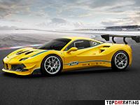 2017 Ferrari 488 Challenge = 320 kph, 670 bhp, 2.9 sec.