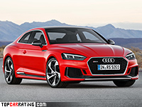 2018 Audi RS5 Coupe = 280 kph, 450 bhp, 3.9 sec.