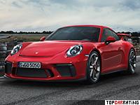 2018 Porsche 911 GT3 (991) = 318 kph, 500 bhp, 3.4 sec.