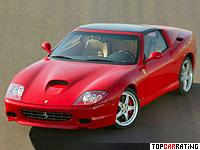 2005 Ferrari 575 Superamerica = 320 kph, 533 bhp, 4.25 sec.