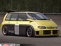 1995 Renault Espace F1 = 312 kph, 800 bhp, 2.8 sec.