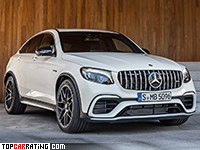 2018 Mercedes-AMG GLC 63 S Coupe 4Matic+ = 250 kph, 510 bhp, 3.8 sec.