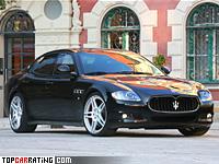 2011 Maserati Quattroporte Novitec Tridente = 295 kph, 590 bhp, 4.6 sec.