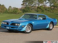 1977 Pontiac Firebird Trans Am W72 = 195 kph, 203 bhp, 8.7 sec.