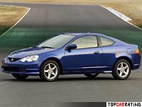 2002 Acura RSX Type-S = 218 kph, 212 bhp, 6.2 sec.