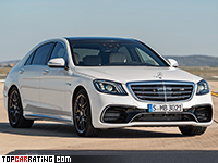 2018 Mercedes-AMG S 63 4Matic+ (V222) = 300 kph, 612 bhp, 3.5 sec.