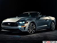 2018 Ford Mustang GT Convertible = 287 kph, 455 bhp, 4.6 sec.