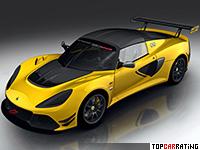 2017 Lotus Exige Race 380 = 280 kph, 380 bhp, 3.4 sec.
