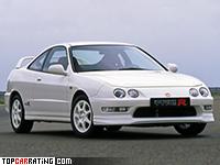 1998 Honda Integra Type-R = 233 kph, 190 bhp, 6.5 sec.
