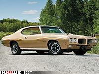 1970 Pontiac GTO 455 H.O. = 203 kph, 360 bhp, 6 sec.