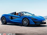 2018 McLaren 570S Spider = 318 kph, 570 bhp, 3.3 sec.