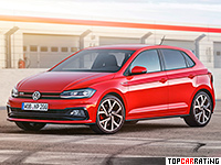 2018 Volkswagen Polo GTI = 230 kph, 200 bhp, 6.8 sec.