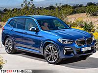 2018 BMW X3 M40i = 250 kph, 360 bhp, 4.9 sec.