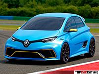 2017 Renault Zoe e-Sport = 210 kph, 462 bhp, 3.2 sec.