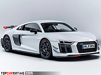 2018 Audi R8 Performance Parts = 330 kph, 610 bhp, 3.2 sec.