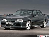 1990 Vauxhall Carlton Lotus = 269 kph, 377 bhp, 5 sec.